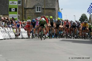 Daire at head of cycling race